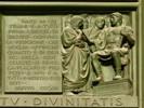 Editto di Costantino - bassorilievo porta sinistra del Duomo
