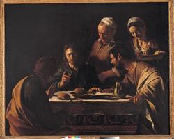 Pinacoteca di Brera - Caravaggio: cena di emmaus