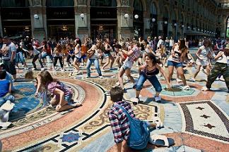 Flash MoP in Galleria Vittorio Emanuele
