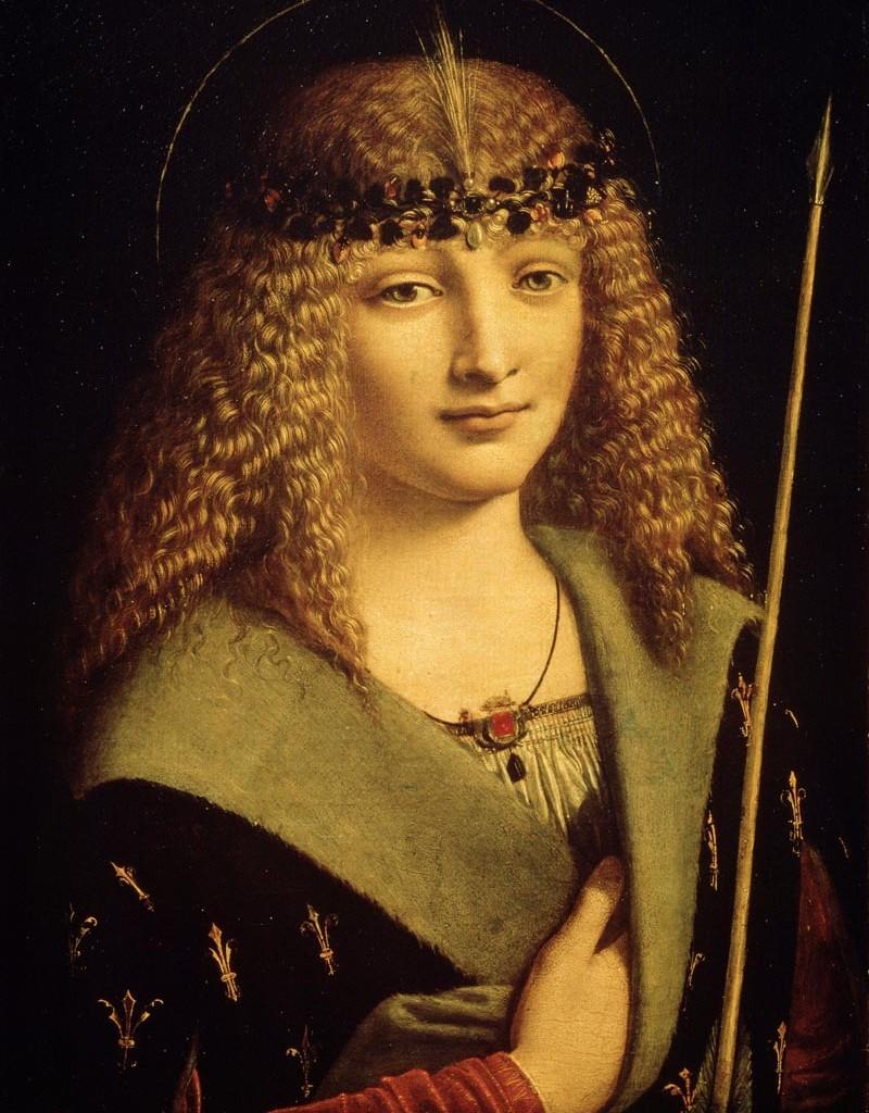 Giovane con freccia e mano al cuore, Giovanni Antonio Boltraffio