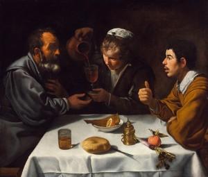 Diego Rodriguez De Silva y Velàzquez, Scena di taverna con due uomini e ragazza, copyright Museum of Fine Arts Budapest