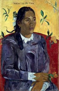 """""""Donna con fiore"""", Paul Gauguin, 1891"""