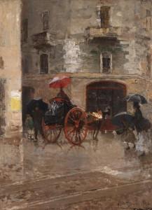 Mosè Bianchi, Giorno di pioggia a Milano