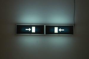 Untitled Emergency Light 1987 foto A.J. Hanser courtesy dell'artista