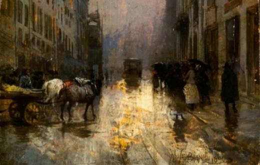 Mosè Bianchi, Vecchia Milano (1880)