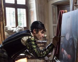 L'attore Paolo Briguglia nei panni di Leonardo da Vinci (Foto Rita Antonioli)