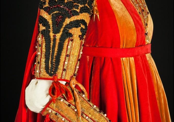 Costume di Giulietta realizzato da Danilo Donati per il film Giulietta e Romeo, regia Franco Zeffirelli (1968)