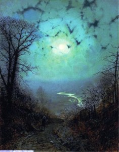 John Atkinson Grimshaw, Moonlight at Wharfedale