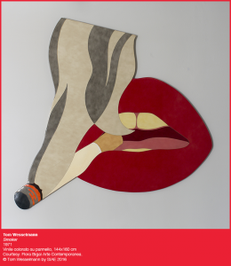 Tom Wesselmann, Smoker (1971), vinile colorato su pennello, photo credits Tom Wesselmann by SIAE 2016
